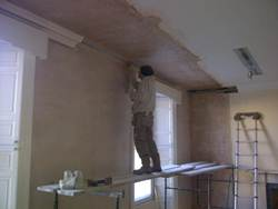 Inside of Morris and Young Perth internal plastering after rot repairs