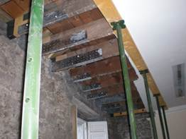 Inside of Morris and Young Perth temporary supports